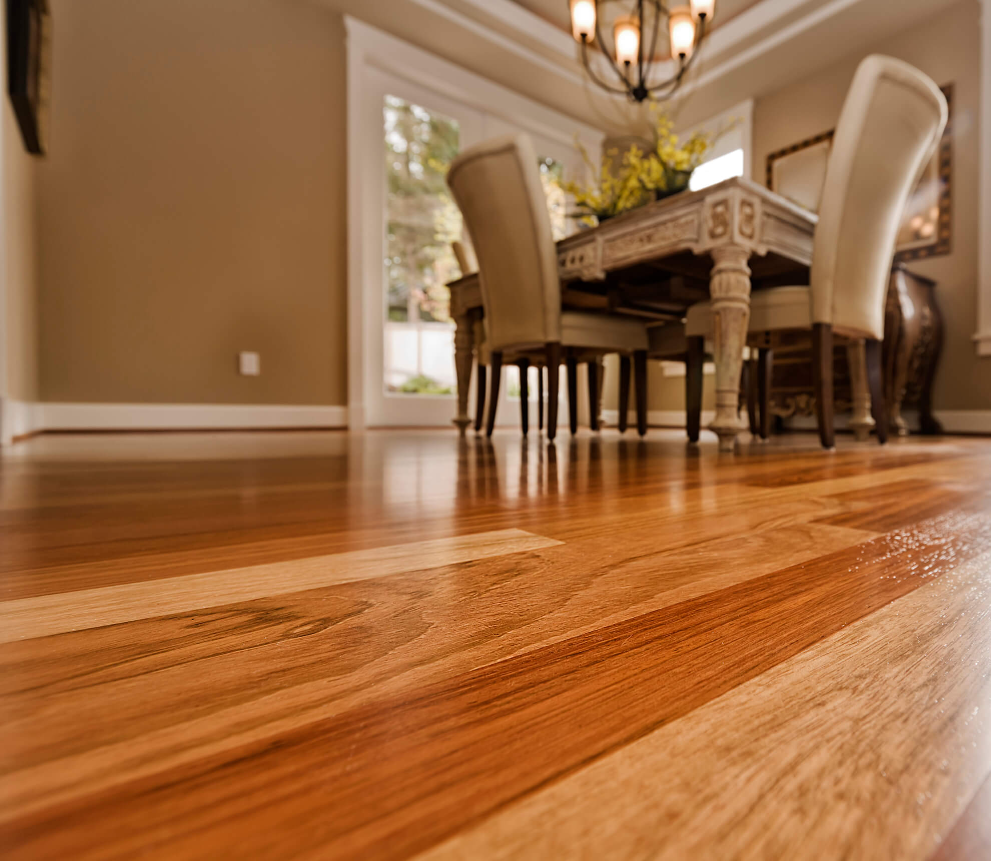 Residential Hardwood Floor Cleaning